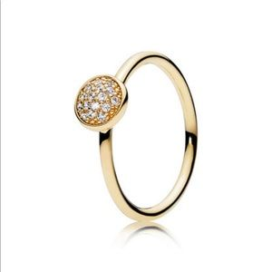 DAZZLING DROPLET RING, CLEAR CZ Brand New
